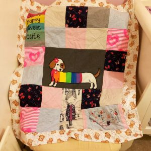 'Remember when...' memory quilt order photo example