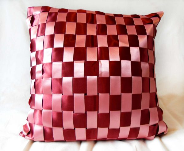 Handmade cushion Candy floss full front