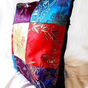 Handmade cushion Orient patchwork design side full