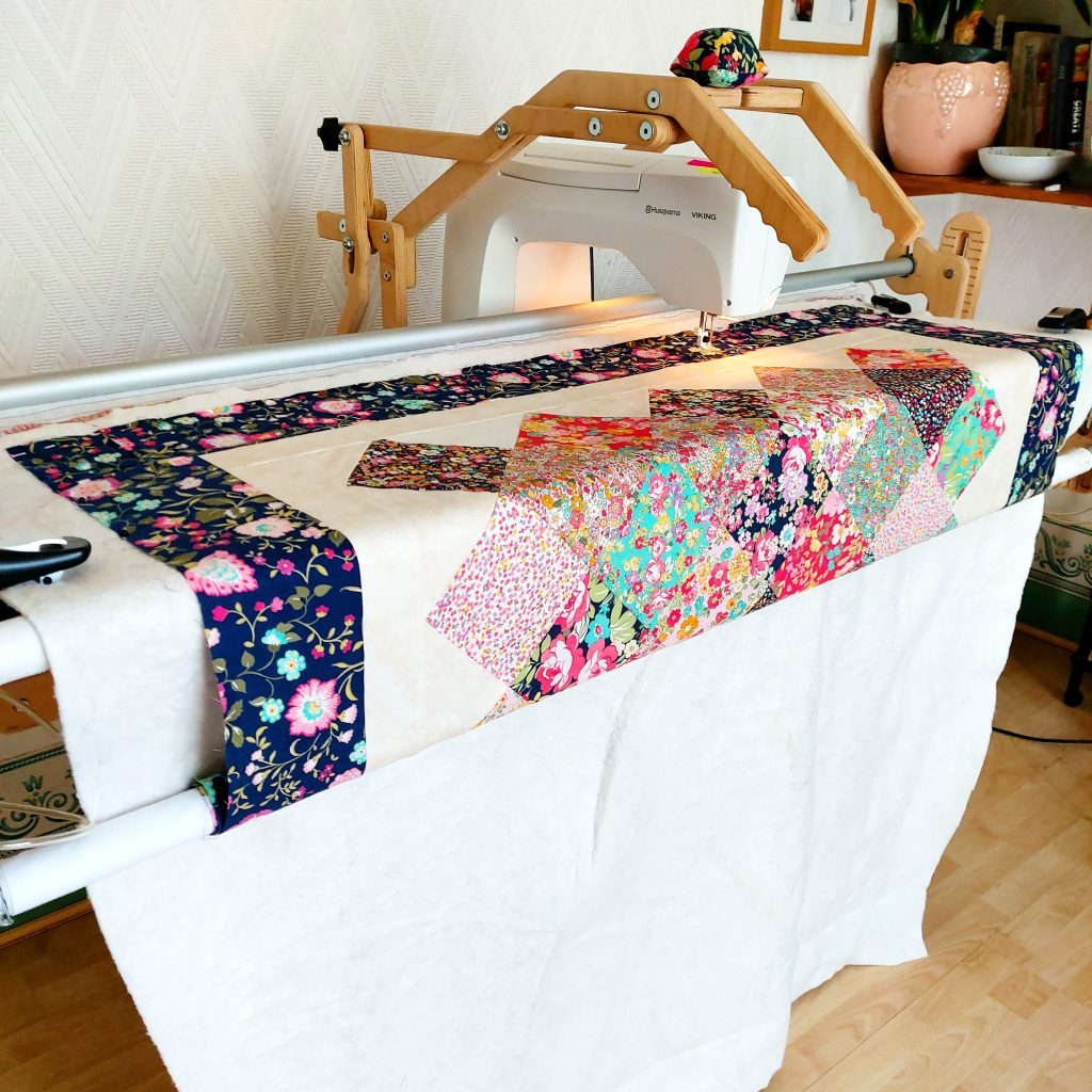 quilt being made