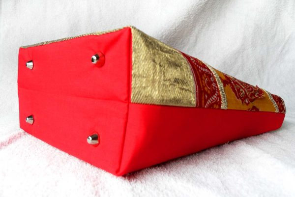 Handmade bag Indian garden full side bottom