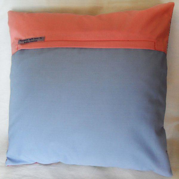 Handmade cushion Summer patchwork full back