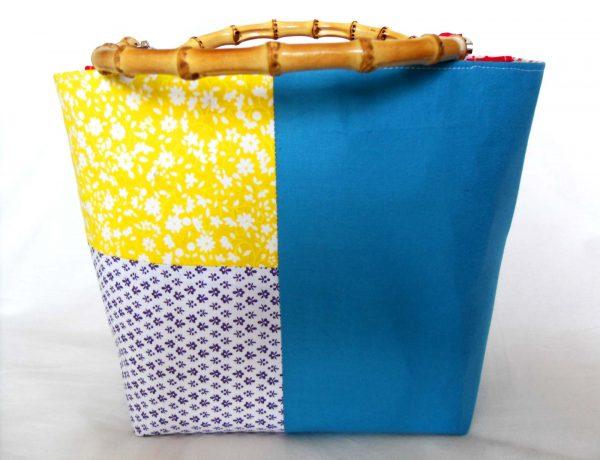 Handmade bag Summer patchwork full back