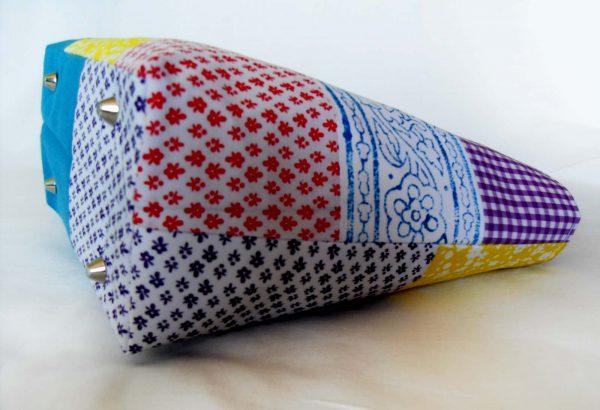 Handmade bag Summer patchwork full side bottom