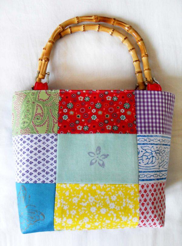 Handmade bag Summer patchwork full front