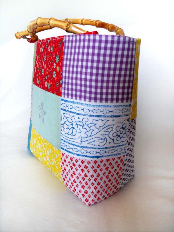 Handmade bag Summer patchwork full side front