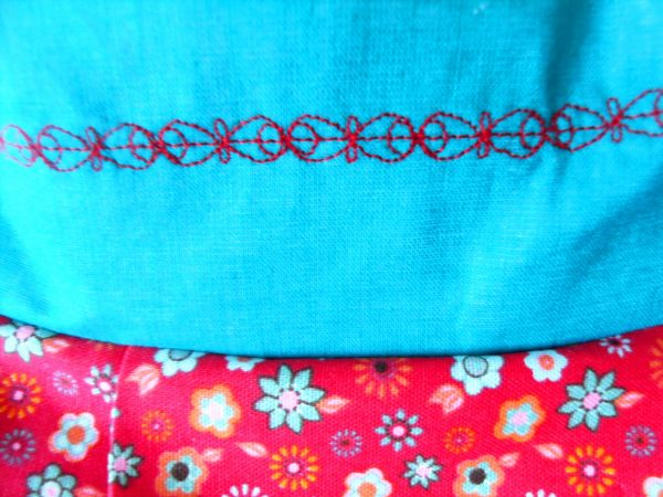 Handmade bag Summer slouch pattern close-up front
