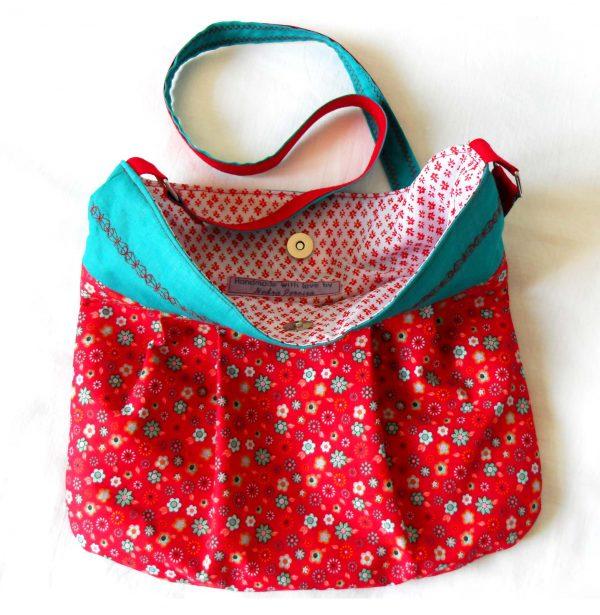 Handmade bag Summer slouch full front