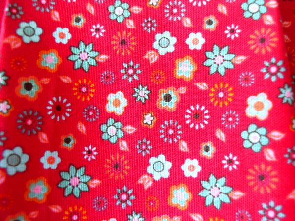 Handmade bag Summer slouch pattern close-up