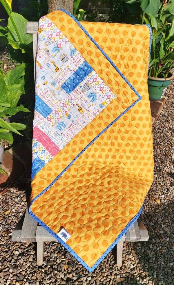 Handmade quilt Circus rail fence design full