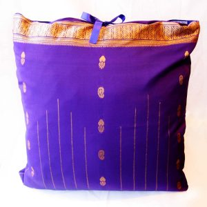 Handmade cushion Purple full front