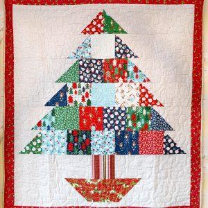 Handmade quilt Oh Christmas tree design full front