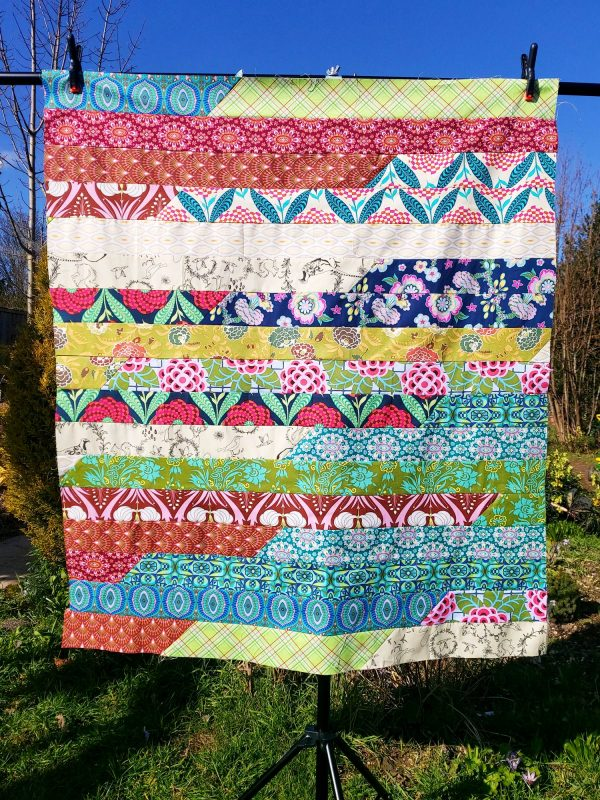 Handmade quilt On your marks 'Nearly there' range design full front